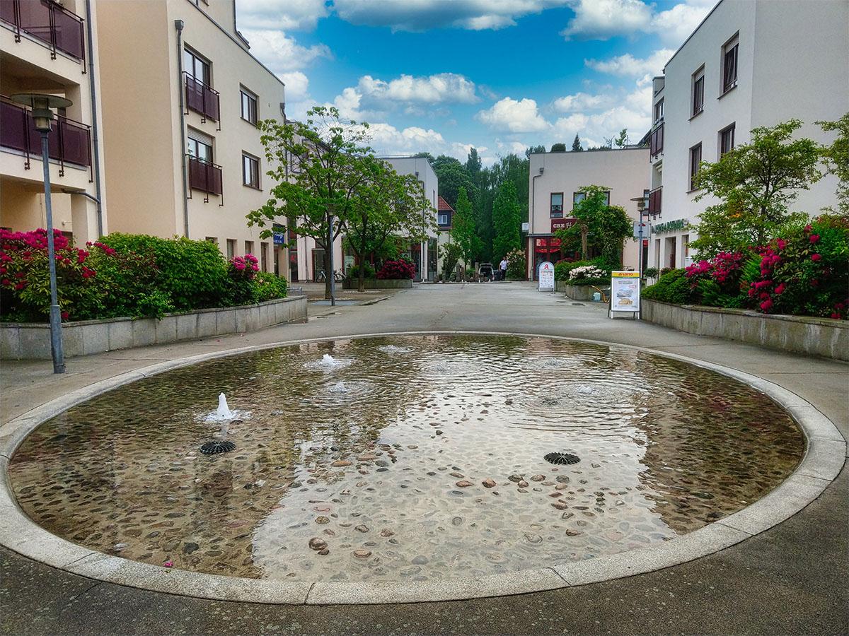 Parthe Centrum – Springbrunnen